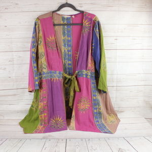 Soft Surroundings XL Kimono Tie Front Boho Duster